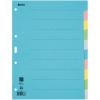 Biella Kartonregister Blanko 10-teilig, blau