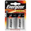 2 Energizer Batterien Modell D, LR20, Mono 1.5 Volt