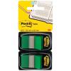 Post-it Index Haftstreifen grün, Pack à 2 x 50 Stück