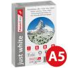 FocusShop Kopierpapier/Universalpapier just white in A5, 80 g/m², Pack à 500 Blatt