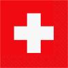 Stewo Servietten Schweizer Kreuz rot/weiss, 33 x 33 cm, Pack à 20 Stück