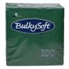 BulkySoft Cocktail Servietten, tannengrün, 2-lagig, 24 x 24 cm, 1/4 Falz, Karton à 3'000 Stück