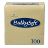 BulkySoft Cocktail Servietten, crema/champagne, 2-lagig, 24 x 24 cm, 1/4 Falz, Karton à 3'000 Stück