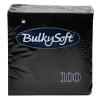 BulkySoft Cocktail Servietten, schwarz, 2-lagig, 24 x 24 cm, 1/4 Falz, Karton à 3'000 Stück