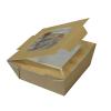 Food-to-go box small mit Deckel und Fenster, 750 ml, 125 x 125 x 60 mm, Karton à 140 Stück