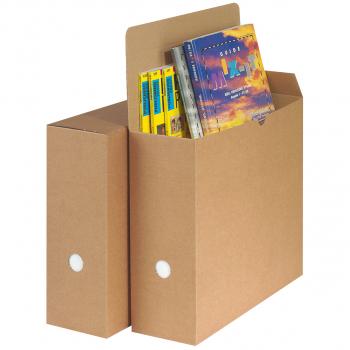Archivschachteln Neutral beige, für A4, Pack à 50 Stück