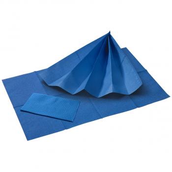 Patientenservietten blau, 33 x 45 cm, Pack à 50 Stück