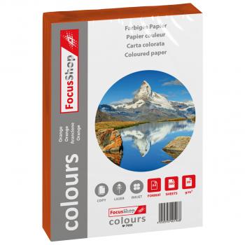 FocusShop Farbiges Papier colours in A4, 80 g/m², Pack à 500 Blatt, orange