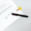 Post-it Index Haftstreifen gelb mit Symbol Unterschrift, Pack à 50 Stück