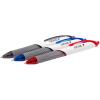 GENIE Einweg-Druckkugelschreiber 0.5 mm, Schreibfarbe assortiert, Pack à 12 Stück